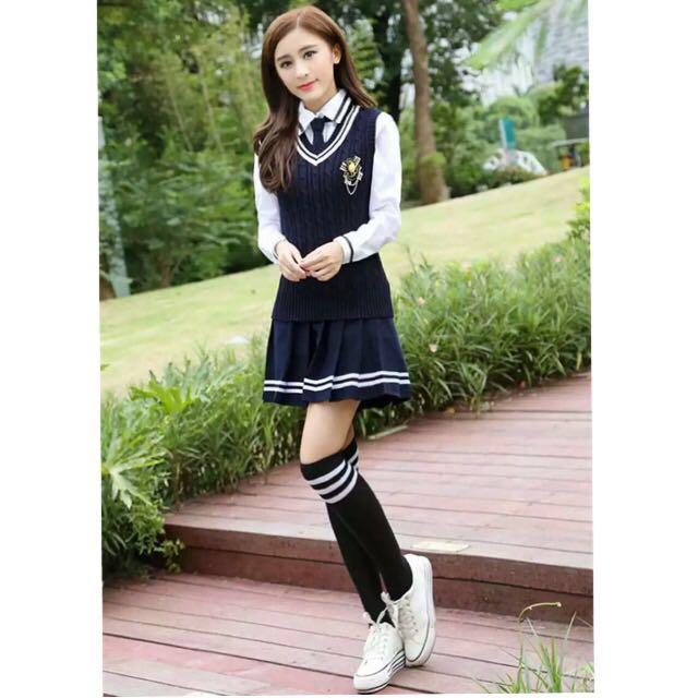 Korean School Uniform Set, Women's Fashion, Clothes