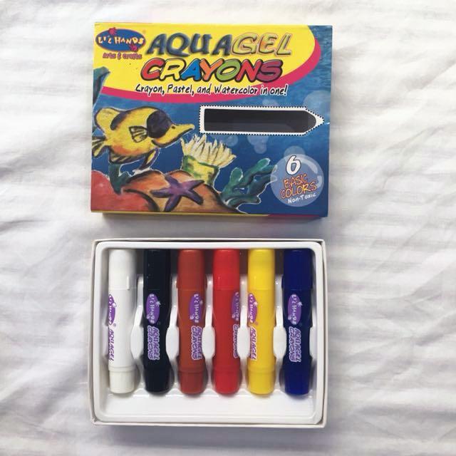 Lil Hands Aqua Gel Crayons (crayon, pastel, and watercolor in one)