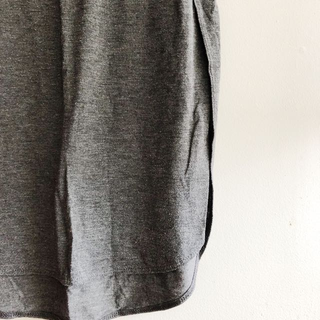 Long Tshirt with Curved Hem and Slits