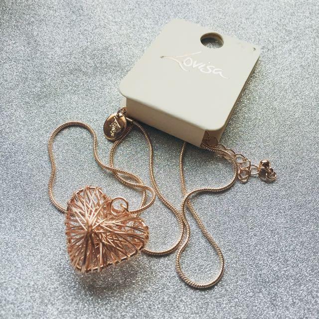Lovisa heart necklace 😻
