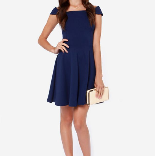 Lulu's / X-Small Navy Blue Dress