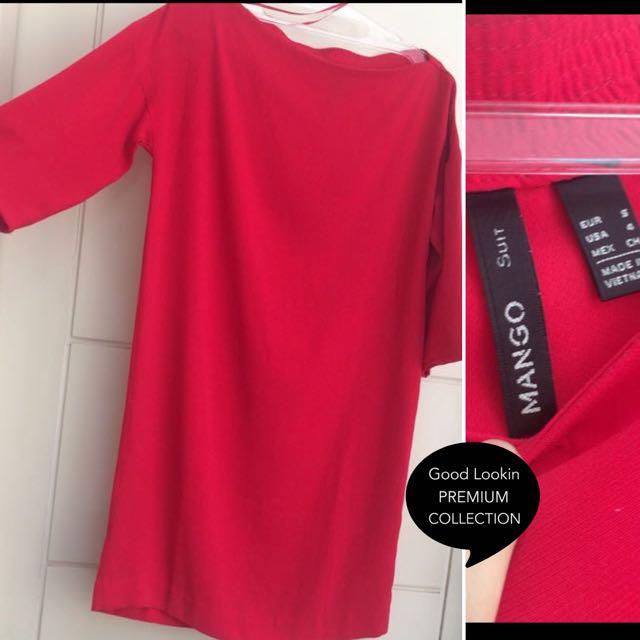 Mango red dress