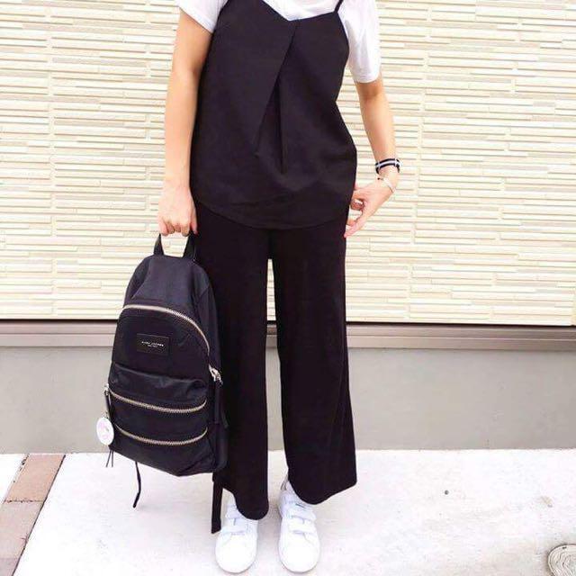 Marc Jacobs mini款 黑色銀鍊 尼龍雙肩後背包
