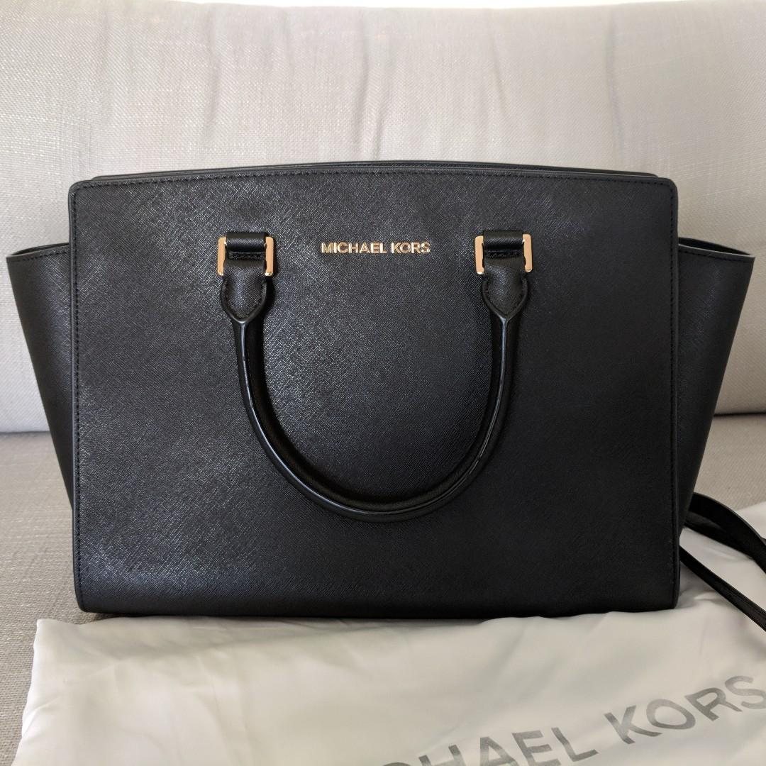b1c86b45a5c5 Michael Kors Selma Saffiano leather bag in Medium + shoulder strap ...