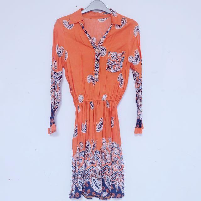 Mini dress orange