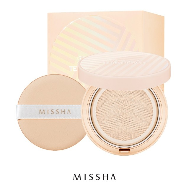 Missha the original tension pact perfect cover SPF37/PA++ (free refill dan ekstra puff)