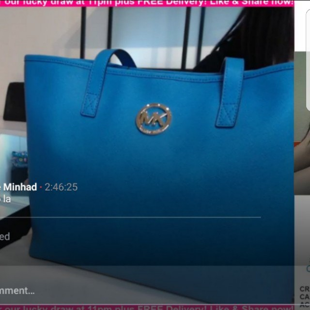 38a0df8793cbbf Mk blue tote bag, Luxury, Bags & Wallets on Carousell