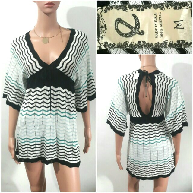 (M-L) E  USA kimono knitted top/cover up