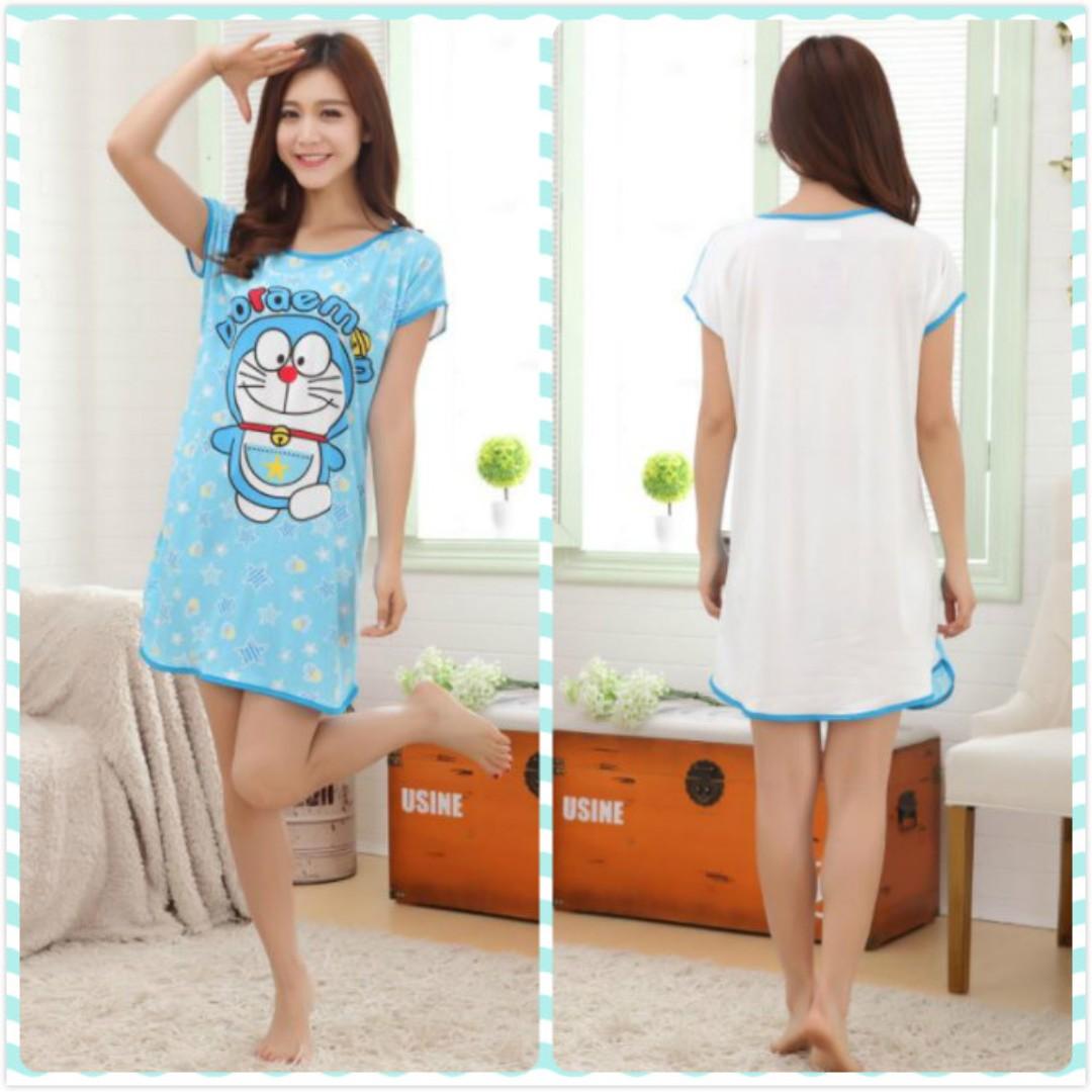 MuiMui Promotion Baju Tidur Polyester Pajamas Cartoon Nightdress Doraemon  M081 2713a731d5