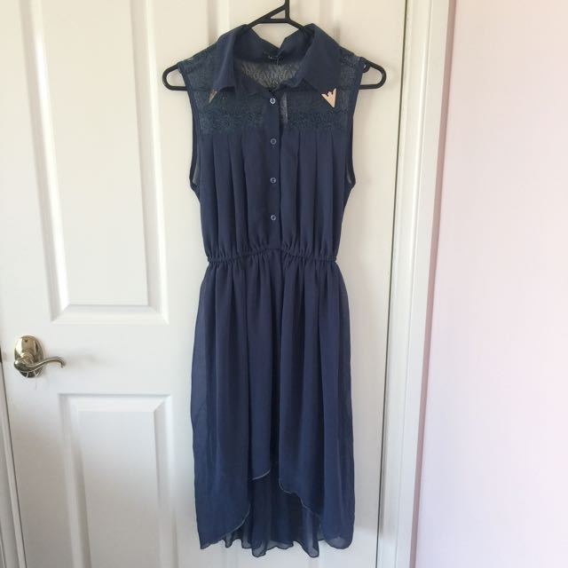 Navy dress with lace detail (BNWT)