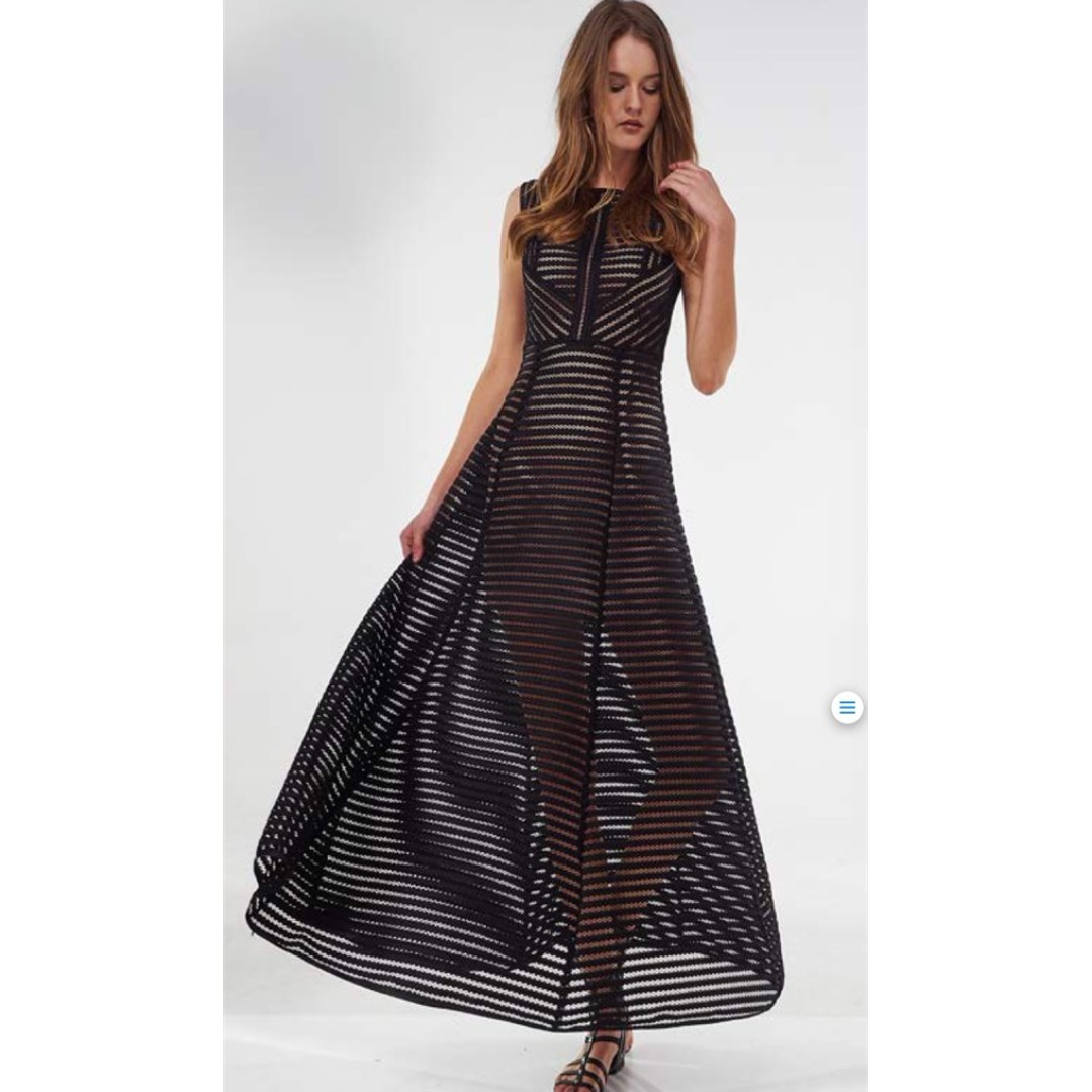 NEW Black Rome Maxi Gown, Bronx & Banco inspired, Size S/AU6-8