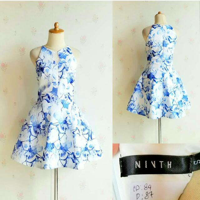 Ninth Blue Dress Ngembang Cantikkk