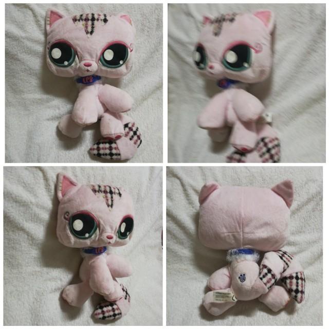 Original Vintage Littlest Pet Shop LPS Plush Toy - Cat