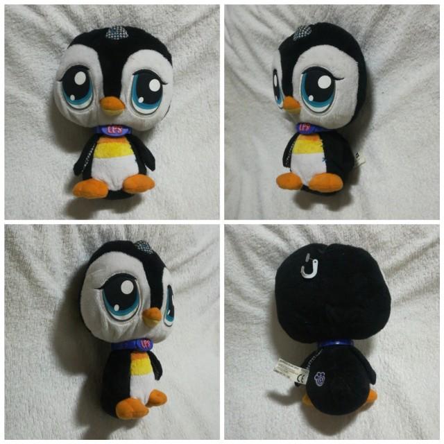 Original Vintage Littlest Pet Shop LPS Plush Toy - Penguin
