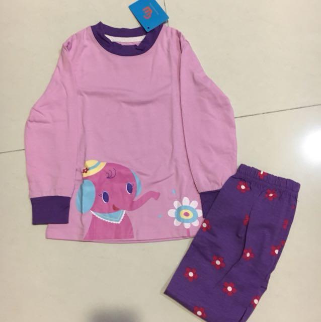 pijamas purple gajah for 100 cm