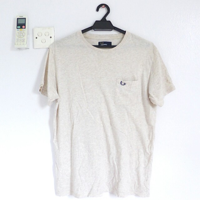 [PL] Fred Perry Beige Crew Neck T-shirt