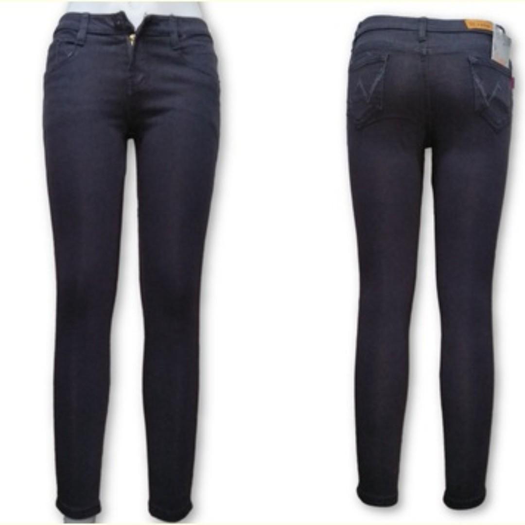 Plain Cotton jeans/navy-grey-black