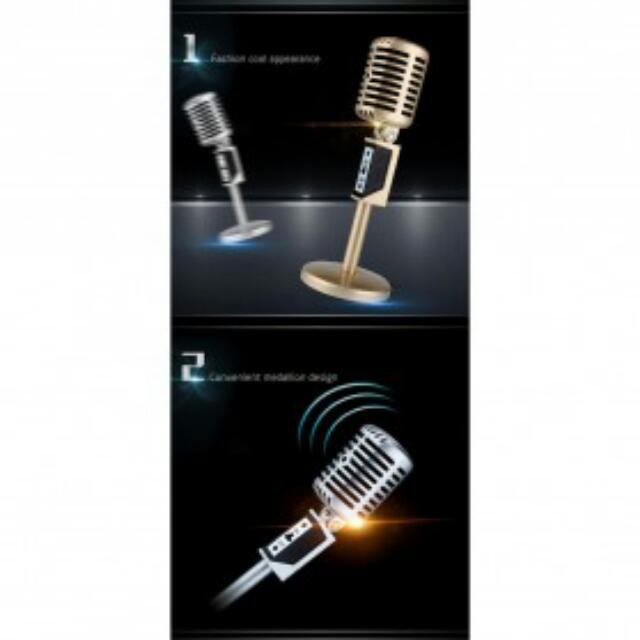 Professional Condenser mic jazz - silver, Mobile Phones & Tablets, Mobile & Tablet Accessories on Carousell