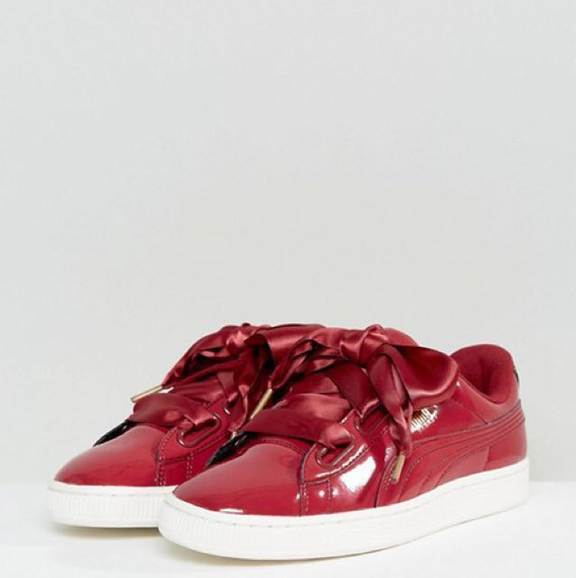 differently 73496 f4848 Puma Basket Heart Patent Red