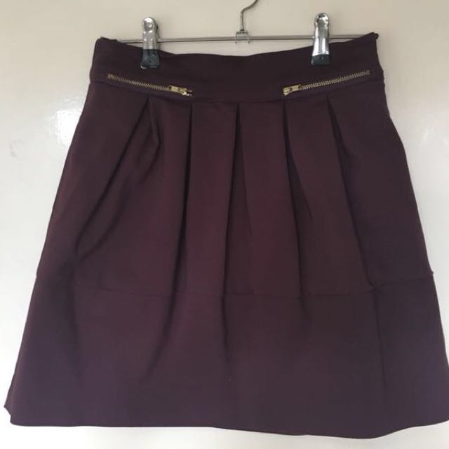 Purple panelled skater skirt