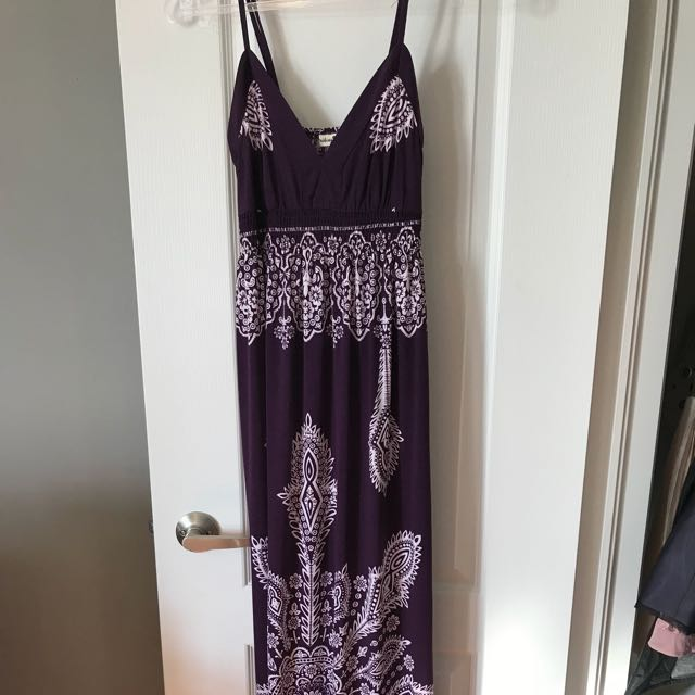 Purple summer maxi dress