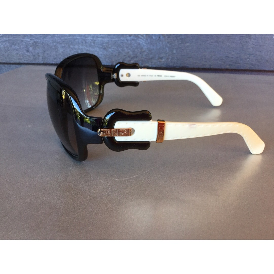 1ebad16ef831 Rare Genuine Fendi Buckle Black/White Sunglasses, Luxury, Accessories on  Carousell
