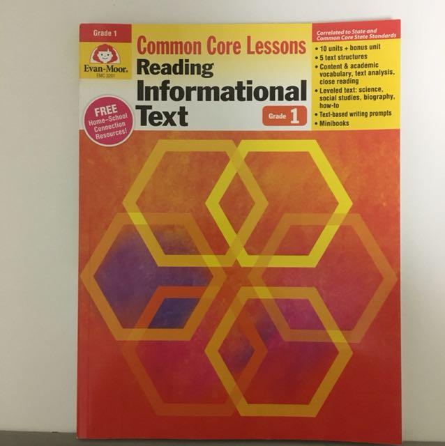 Reading informational text grade 1 by evan-moor