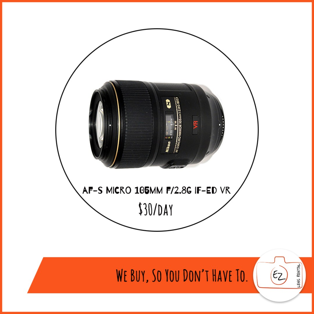 Rent: AF-S VR Micro-Nikkor 105mm f/2.8G IF-ED