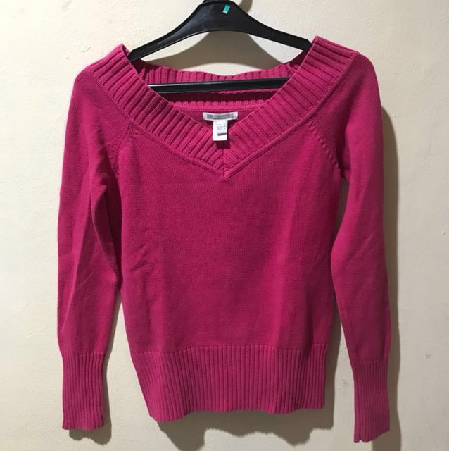 REPRICE Mango Basics Fuschia Sweater