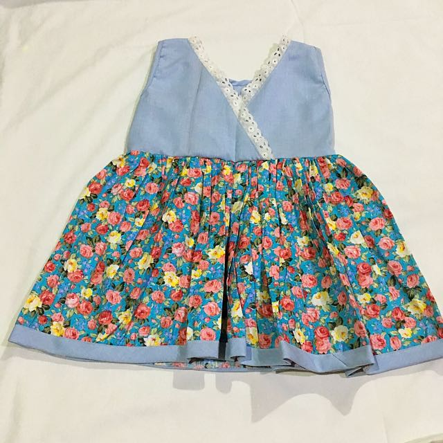 Reversible Floral-Denim Dress
