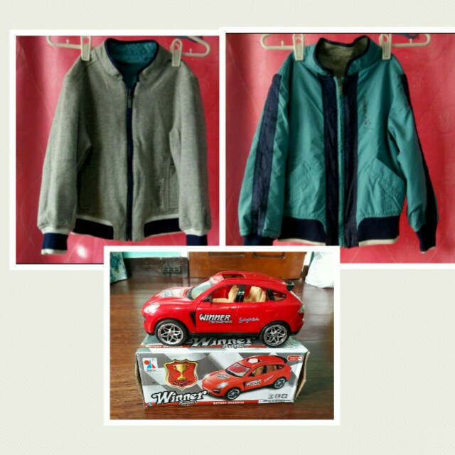 Reversible Tom Kid Jacket for Boys with Free Toy Car