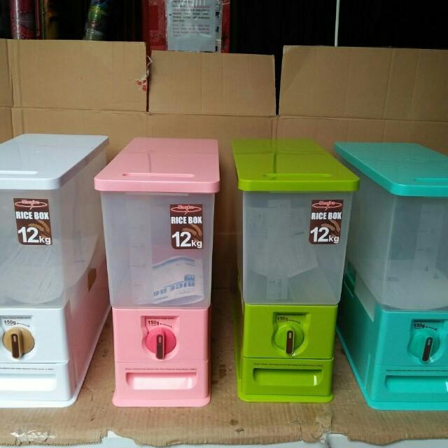 Rice box maspion, tempat beras 12liter