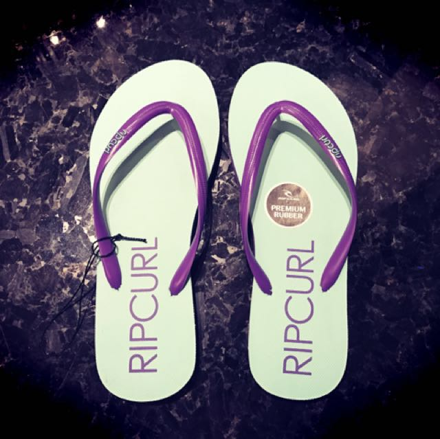 衝浪品牌RIP CURL馬卡龍色系海灘拖鞋❤️
