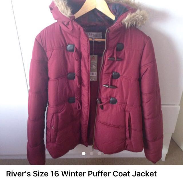 Rivers Size 16 Winter Puffer Jacket
