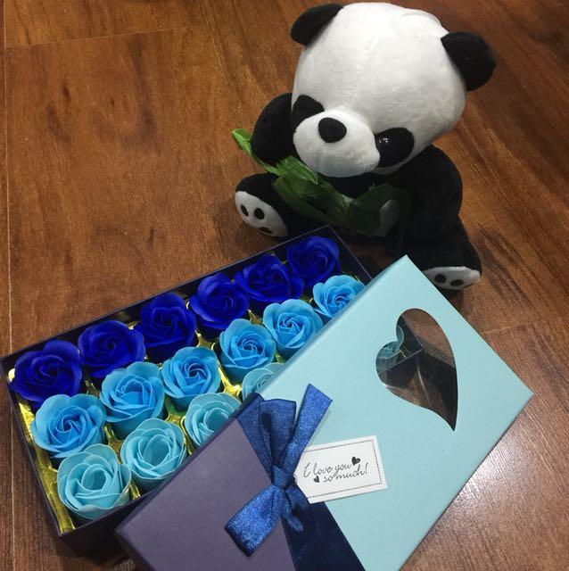 Rose Shaped Hand Soap (BLUE)