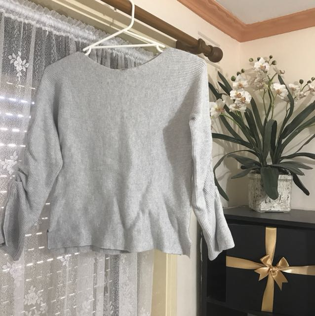 Ruched Thick Sweater