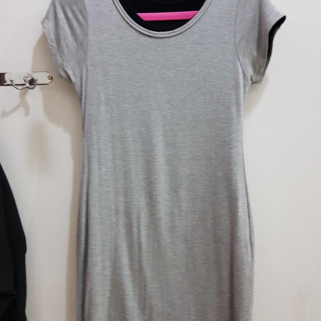 simple dress in grey