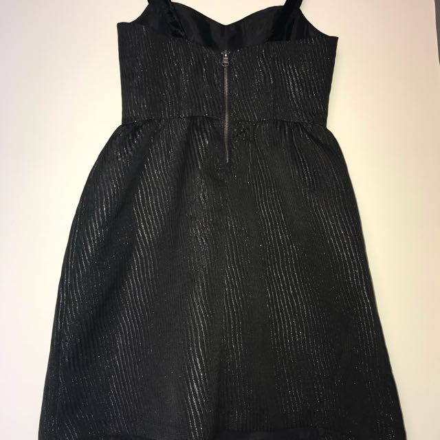 Sparkly black bell-shaped dress