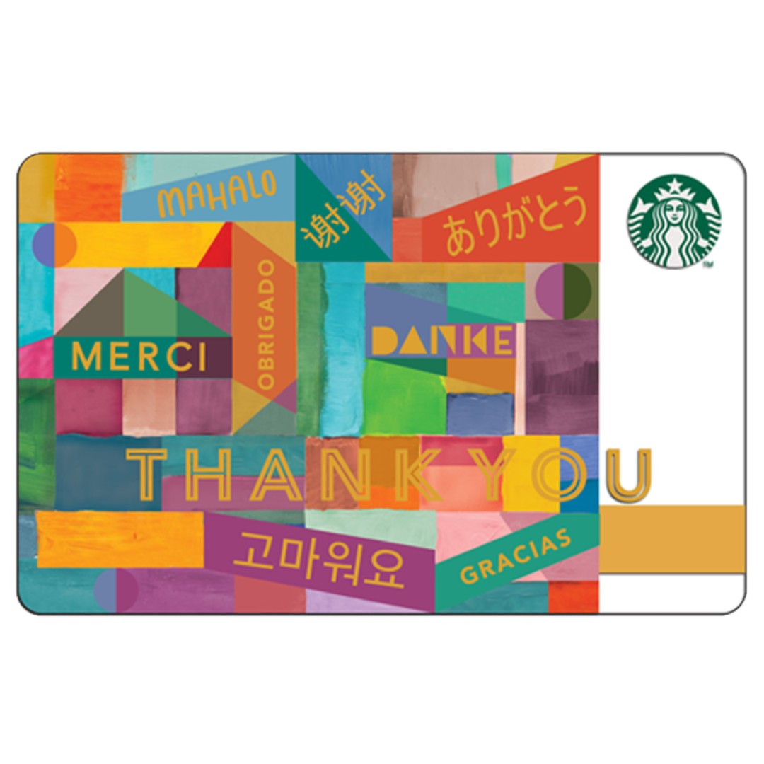 Starbucks Thank You Card Tickets Vouchers Gift Cards
