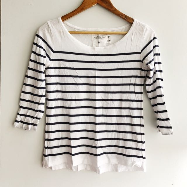 Striped Nautical Quarter Sleeve Top
