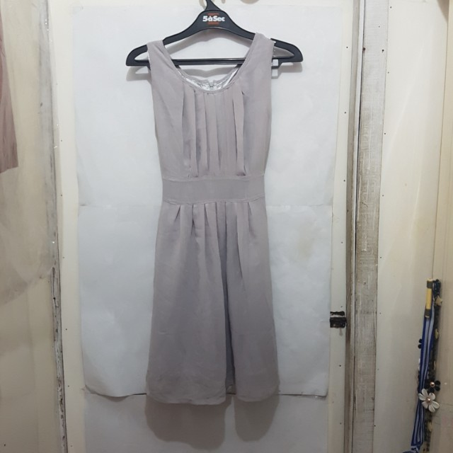 [SUBSIDI ONGKIR IDR 10.000] Simple Grey Dress