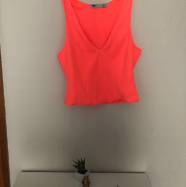 Temt Fluro pink top