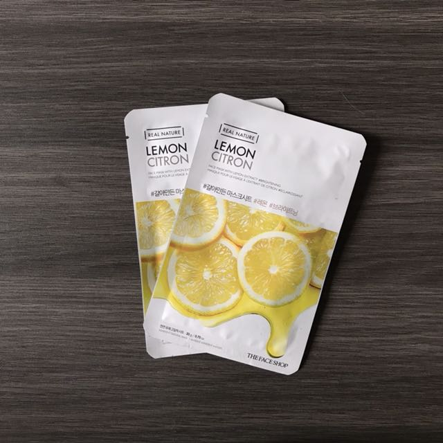 The Face Shop REAL NATURE Face Mask Lemon