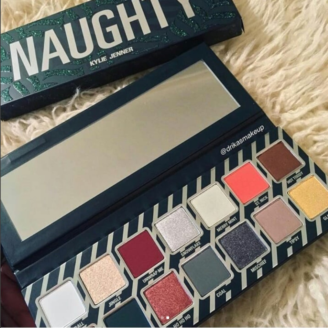 The Naughty Palette Kylie Cosmetics Kyshadow HOLIDAY 2017 COLLECTION