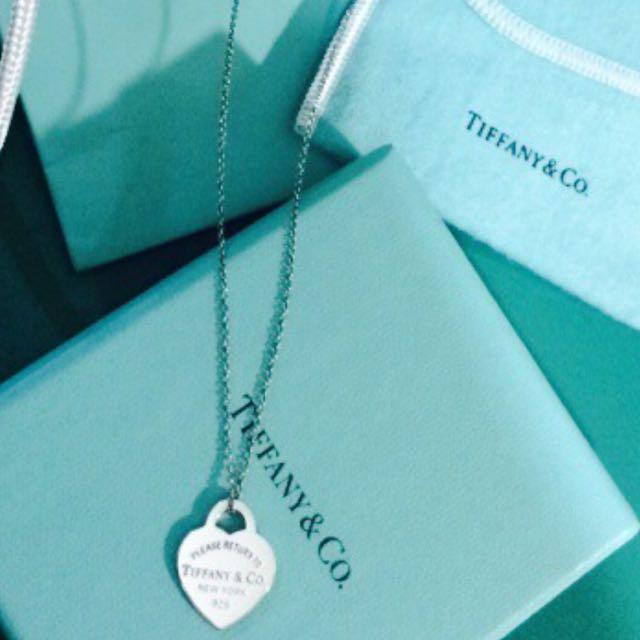 Tiffany愛心項鍊 正品(二手)