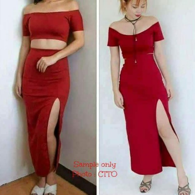 Top and Skirt Terno