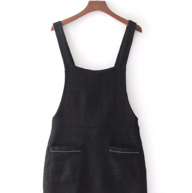 Tweed Overall Mini Skirt