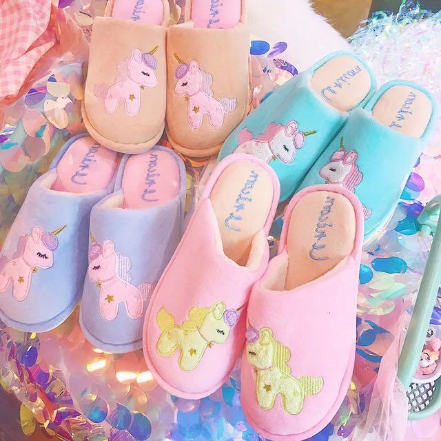 Unicorn pastel indoor slipper