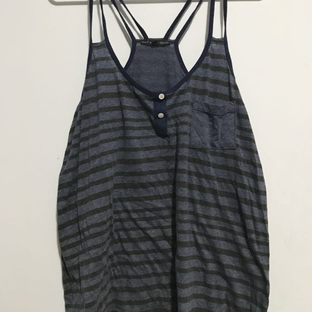 Urban Outfitters Blue & Grey Tank Top