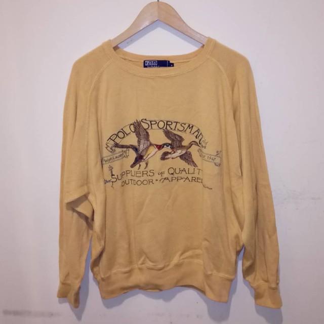 Vintage Polo Sportsman Flying Duck Big Logo Knitwear Men S Fashion
